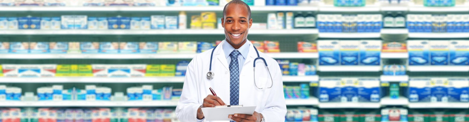 pharmacist on the counter