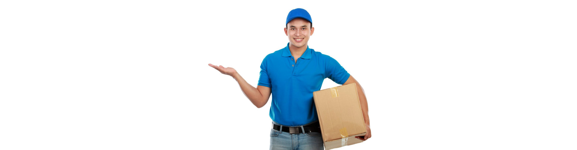 delivery man carrying a box